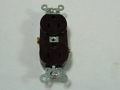 Hubbell CR15 Duplex Receptacle  Brown 15A 125V  USED