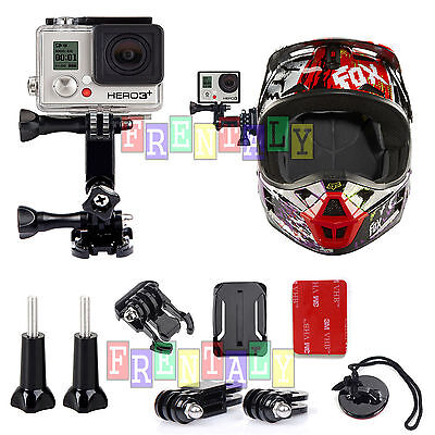Adjustable Curved Helmet Self Arm Mount Holder For Gopro Hero 4 3+ 2 1 Camera