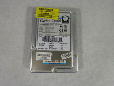 "Caviar 247576-001 Hard Drive 21600 1624.6MB 3.5""  USED"