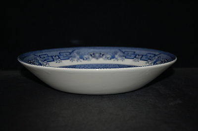 Churchill Willow Blue Georgian Shape England Coupe Soup Bowl