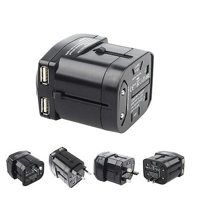 Universal Worldwide Multifunction Travel Plug Charger Adapter With 2 USB Ports