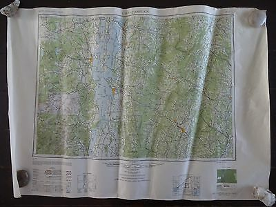 1950 - Large/Antique Map of Lake Champlain, New York - Army Map Service