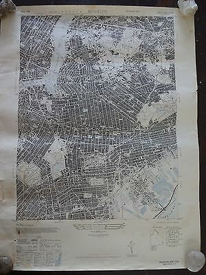 1947 - ANTIQUE Map of Brooklyn, NY - Army Map Service, War Department
