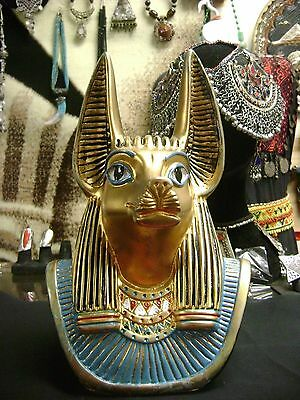 """Large Egyptian God Anubis   Hand Painted   MADE IN EGYPT """"COLLECTIBLES"""""""