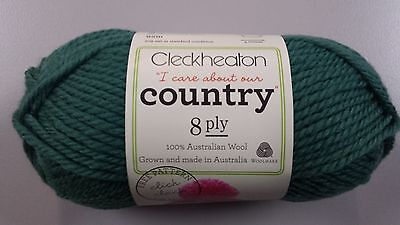 Cleckheaton Country #2346 Green 100% Pure Wool 8 Ply 50g