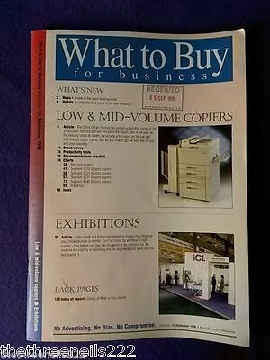 What To Buy For Business #186 - Exhibitions - Sept 1996