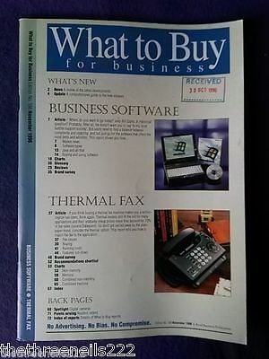 What To Buy For Business #188 - Business Software - Nov 1996