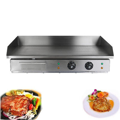 4400W  Electric Griddle Grill Hot Plate Stainless Steel Commercial BBQ