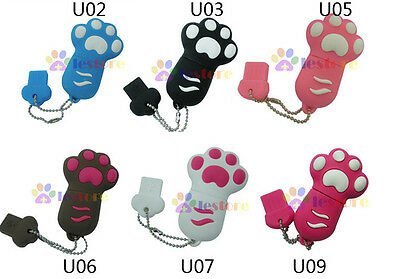 3D 4GB 4G Silicone Lovely Bear claws Flash Memory stick Pen Drive USB 2.0
