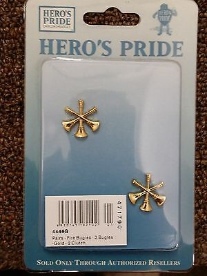 Metal ASST. Chief 3 horns - Gold in Color. Rank Insignias