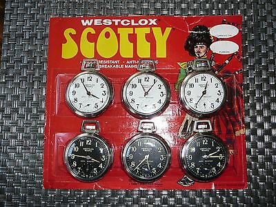 Extremely Rare Westclox Scotty Display lot of 6 Numbers on back