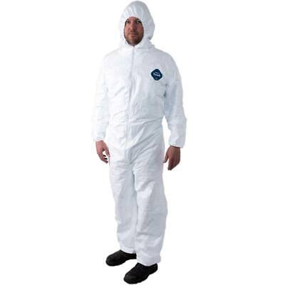DuPont Tyvek TY127S Disposable Coverall Bunny Suit Hood,ElasticWrist&Ankles25/CS