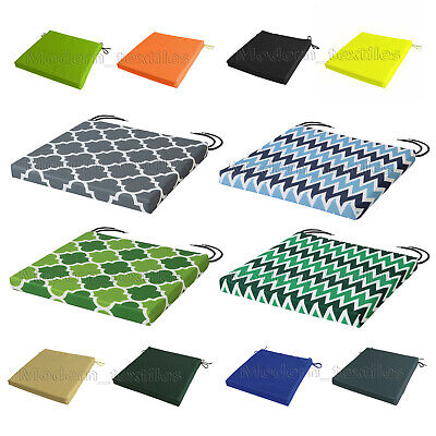WATERPROOF Chair Cushion Seat Pads REMOVABLE COVER Patio Tie On Garden OUTDOOR