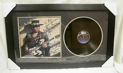 STEVIE RAY VAUGHAN DOUBLE TROUBLE Texas Flood LP FULLY SIGNED FRAMED w/ C.O.A.
