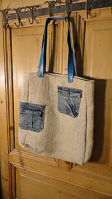 Antique European Grain Sack,Tote Bag, Book Bag,Ipad Bag,Purse.#6457