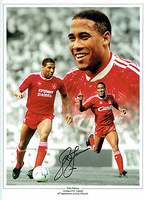 John BARNES SIGNED Autograph 16x12 Photo AFTAL COA LIVERPOOL Montage Legend