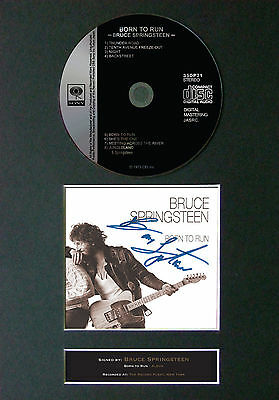 BRUCE SPRINGSTEEN Born To Run Signed Autograph CD & Cover Mounted Print A4 42