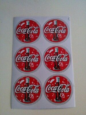 "6 pcs Coca-Cola Coke Bottle Sticker Label Decal 1.4"" in"