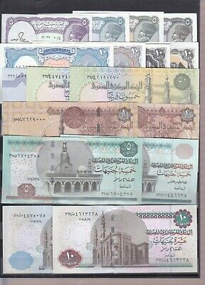 Egypt 5 10 25 50 Pt 1 5 10 Egp 1982 2017 Set Of X 13 Unc Notes Lot */*
