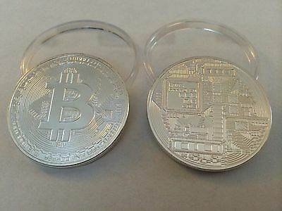 Bitcoin Silver Plated One Ounce Commorative Coin