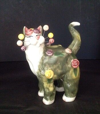 "WHIMSICLAY CAT ""ROSETTE"" BY AMY LACOMBE 2002 Item # 21024"