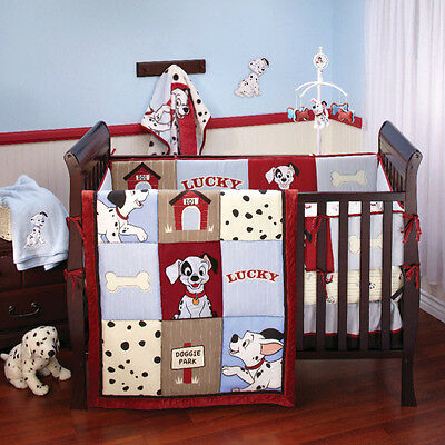 Disney 101 Dalmatians 5 -Piece Crib Bedding Set W/Bumper