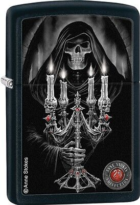 Zippo 2015 Anne Stokes Collection Reaper Candleabra Black Matte Lighter 28857