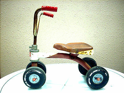 """RARE VINTAGE AMF JUNIOR """"Wee Wheeler"""" Ride-On Scooter - made in Hammond, IN"""