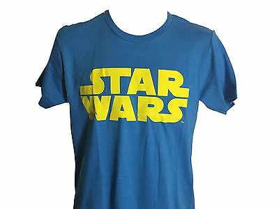 Star Wars Yellow and Blue Logo Vintage Classic Movie Men's T shirt NWT S-2XL