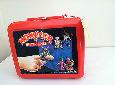 Monster in My Pocket 1990 Aladdin lunchbox lunch box thermos plastic vintage