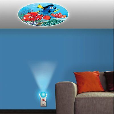 Finding Nemo Projecting LED Plug in Night Light ColorFull Wall Ceiling Kids Room