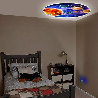 Solar System Projecting LED Plug in Night Light ColorFull Wall Ceiling Kids Room