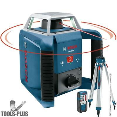 Bosch Tools Self-Leveling Rotary Laser PLUS Complete Exterior Kit GRL400HCK New