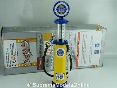Chevrolet Petrol Gas Pump Model 1/18 Scale Visible Blue/yellow Example T3412Z(=)