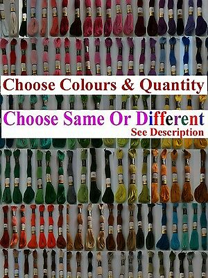 Anchor Cross Stitch Cotton Crochet Embroidery Thread Floss Skien. Choose Colours