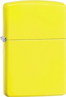 Zippo 2015 Catalog Brilliant Splash Classic Yellow Windproof Lighter 28887 *NEW*