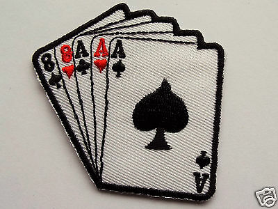 Aces and Eights Embroidered Sew On / Iron on Biker patch Motorcycle Chopper