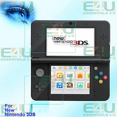4 x Anti Blue Light Screen Protectors For New Nintendo 3DS 2 x Top + 2 x Bottom