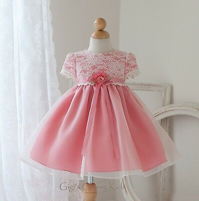 New Baby Lace Organza Flower Girls Dress Easter Christmas Party Pageant USA