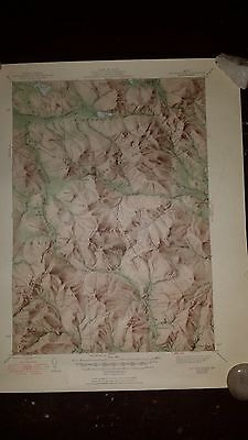 1950 - ANTIQUE Topographic Map of SODA SPRINGS QUADRANGLE - Idaho