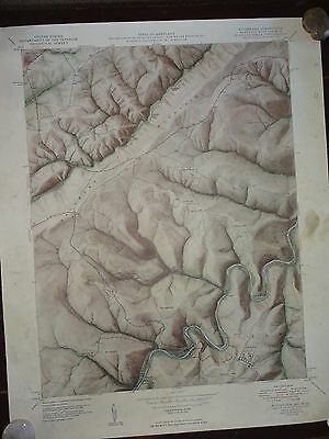 1953 - ANTIQUE Topographic Map of KITSMILLER QUADRANGLE - Maryland-W Virginia