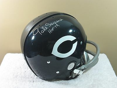 CHICAGO BEARS signed GALE SAYERS RK style Vintage Riddell Football Helmet