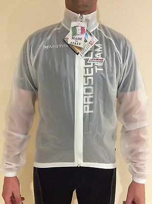 MSTINA Transparent Cycling Jacket Wind/ Waterproof - X/Small - Italian Made!
