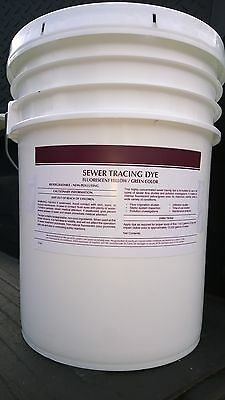 FLUORESCENT green / yellow SEWER TRACING DYE 5 gallon pail SUPER CONCENTRATED