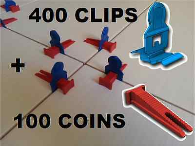 400 Clips/100 Coins Croisillons Auto Nivelant Perfect Level Carrelage Carreleur