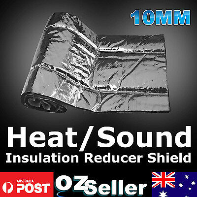 10mm Car Heat Shield Proof Deadener Hood Bonnet Exhaust Muffler Sound Insulation