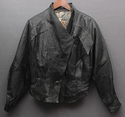 Giacca In Pelle Leather Jacket Anni 90 Vintage Gd232