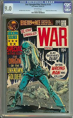 Star Spangled War Stories #154 Cgc 9.0 Ow Pages // Origin Of The Unknown Soldier
