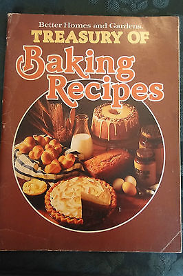Better Homes and Gardens Treasury of Baking Recipes 1978 Cookbook