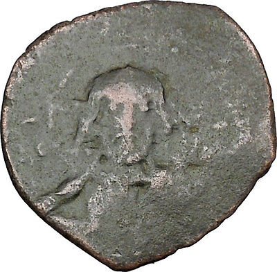 JESUS CHRIST Class E Anonymous Ancient 1059AD Byzantine Follis Coin i48442